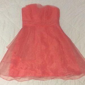 Pink/Coral Bridesmaid Dress